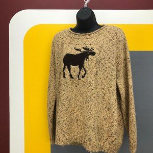 Loose knit slouchy Coldwater Creek moose sweater